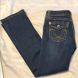 L.A. IDOL USA Jeans size 5 stitching GUC flaws